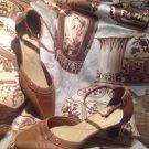 LifeStride Christina Women's BROWN Ankle Strap Pump SQUARE TOE Shoes - Size 7M