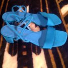 """Madeline Women's Fabric Sandals/Shoes Size 7.5M """"Ruby"""" Color AQUA BLUE  SANDALS"""