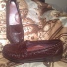 SAS SIMPLIFY TRIPAD COMFORT BROWN CROC PATENT LEATHER LOAFER SHOES WOMEN'S 7M