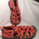 Girls Youth Sz 1 RAINBOW KEEN H2 Newport Waterproof Sandals SHOES GREEN YELLOW