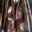 LifeStride Women's Pump US SZ 7M Brown CELTIC Preowned Low Synthetic SHOES