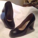 "Sz 71/2B Charles David Black Kidskin 4"" Heel Round Toe Women's Pumps MRSP $144"
