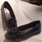 Connie Black Patent Leather Slip-ons Flats SZ 9M Women Stylish Shoes CUTE!!!!!