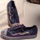 Skechers Twinkle Toes Sneakers Sz 3 Girls Kids Youth Bling Sparkle Laceless