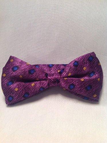 MENS PURPLE, BLUE, BLACK  & GOLD Bow Tie SALE Stylish 100% ITALIAN SILK NEW