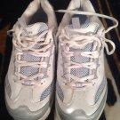SKECHERS Shape Ups Women's Fitness Sneaker Shoes Sz 9.5 White/Silver/Blue Bling