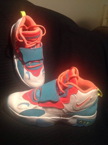 NIKE AIR SPEED TURF SHOES SIZE 5 YOUTH 535735-184 TEAL WHITE BRIGHT ORANGE