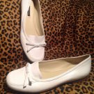 Alex Marie Superb Women's SNOW WHITE Leather Slip On Loafer Flats SHOES 7.5M