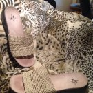 LIFE STRIDE Women's Turvey IVORY Weave Italy Shoes Sandals Sz 9M MRSP $65 EUC