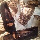LIFE STRIDE Women's BROWN Dandy Faux Alligator Comfort MARY JANE Shoes Sz 8.5M