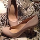 MOOTSIES TOOTSIES Women's Rounded Toe Nude Patent Pumps SHOES HEELS SZ 9M