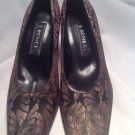 J. RENEE' Women Multi-Colored Rare Silk Pumps SZ 8.5N Black Gray Brown MRSP $76
