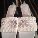LIFE STRIDE Women's Turvey WHITE Weave Italy Shoes Sandals Sz 9M MRSP $65 EUC