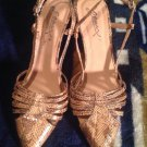 """GO MAX Brown Animal Print Pointed Toe High 3"""" Heel Slingback, Pumps Shoes SZ 6.5"""
