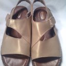 Dr. Scholl's Double Air Pillow WOMEN'S Sandals 8M Gold Walking Shoes Very Nice