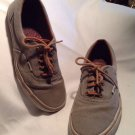 Vans Shoes Gray Off The Wall Sneakers Sz 10.5 Mens Women 12 Fabric Lined Unisex
