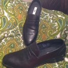 JOSEPH ABBOUD CLARENCE 11M MEN'S BLACK LEATHER PENNY LOAFERS SLIP ONS SHOES $175