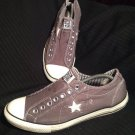 CONVERSE ONE STAR LOW TOP GRAY W/ WHITE MEN'S SNEAKERS SHOES SIZE 11M CANVAS