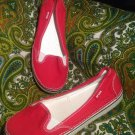 WOMEN'S EUC SLIP ON CROCS SHOES SNEAKERS W 10M RED LIGHTWEIGHT LOAFERS