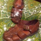 BOTANY 500 MEN'S VINTAGE BROWN LEATHER FISHERMAN SANDALS SIZE 8.5W Nice Casual
