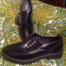 NEW MOSSIMO KELSEY SIZE 10M WOMEN'S BLACK PATENT CASUAL OXFORDS LACE UP SHOES