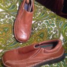 DR SCHOLLS JEREMY MEN'S SIZE 9M BROWN LEATHER SLIP ON LOAFERS SHOES GEL INSOLES