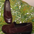 WOMEN'S CLARKS BLACKBERRY #84630 BROWN 7.5M LEATHER CASUAL SLIP ON LOAFERS SHOES
