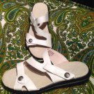 PROPET ST. LUCIA WOMEN'S WHITE W0038 STRAPPY LEATHER BACKLESS SLIDE SANDALS 7.5W