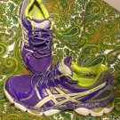 ASICS GEL EXCITE 3 GRAY PURPLE SNEAKERS RUNNING ATHLETIC SHOES WOMENS SZ 9M