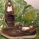 SKECHERS MEMORY FOAM RELAXED FIT BROWN LEATHER MEN'S LACE UP SHOES SIZE 10 M