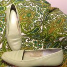 ENZO ANGIOLINI LIBERTY WOMEN'S LEATHER LIGHT GREEN SHOES FLATS SZ 8N MRSP $130