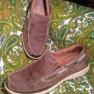 FLORSHEIM LAKESIDE 8.5M BROWN MEN'S OILED LEATHER BOAT SHOES LOAFERS OXFORDS