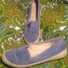 MOOTSIES TOOTSIES FREESHE12 WOMEN'S DENIM BALLET FLATS SHOES ELASTIC TOP SZ 6.5M