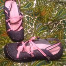 J-41 ADVENTURE ON STREAM 7M PINK/GRAY BALLET FLAT ATHLETIC SNEAKERS SHOES