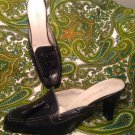 AEROSOLES TAIL OR TALLY WOMEN'S BLACK LEATHER MULES W/ TASSELS SHOES SIZE 6M