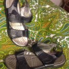 AIR FLEX ELENA WOMEN'S BLACK SOFT COMFORT SANDALS SIZE 10M