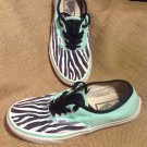 VANS CANVAS TIGER STRIP W/GREEN OFF THE WALL SNEAKERS TENNIS SHOES WOMEN'S 8M ~