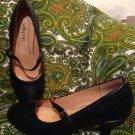 SOFTSPOTS LEATHER BLACK MARY JANE LOW HEEL PUMPS SHOES WOMEN'S SIZE 6.5M
