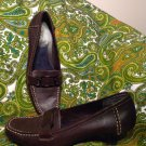 """AEROSOLES BY AEROLOGY PORT CHOP WOMEN'S BROWN LEATHER SOFT COMFORT PUMPS 7.5M"
