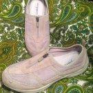 EASY SPIRIT ESAMORE WOMEN'S 9M BEIGE ZIP SUEDE SNEAKERS WALKING SHOES