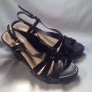 FRANCO FORTINI Black Leather WEDGE Heel SHOES WOMEN'S Sz 8M SYLVIA MRSP $79 NICE