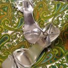 UNLISTED KENNETH COLE PEACE PEACE PARTY 11M SILVER LOW WEDDING FORMAL SANDALS