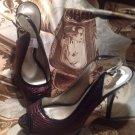 GUESS Women's BLACK & BROWN WGALISE3 Platform HIDDEN HEEL Sandals Pumps SZ 8.5M