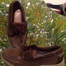 MEN'S MAGELLAN BOAT SHOES SZ 10D CASUAL BROWN LEATHER SHOCK SUPPORT SYSTEM Lace