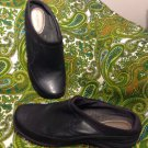 HUSH PUPPIES WOMEN'S BLACK LEATHER SHOES MULES LOAFERS SIZE 8.5M MRSP $77