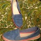 BARE TRAPS ANTAYA MEMORY FOAM WOMEN'S SNEAKERS 7.5M BLUE ELASTIC STRETCH SHOES
