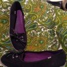 WOMEN'S 9M KEDS WF48296M BLACK SLIP~ON SNEAKERS TENNIS SHOES POLKA DOT STRINGS