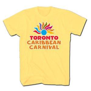 TORONTO CARIBBEAN CARNIVAL T-SHIRT,OFFICIAL MERCHANDISE,NEW,YELLOW,SIZE S-XXL,NR