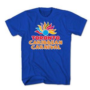 TORONTO CARIBBEAN CARNIVAL T-SHIRT,OFFICIAL MERCHANDISE,NEW,BLUE,SIZES S-XXL,NR