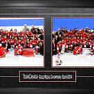 TEAM CANADA Framed 8x10 Photos - Mens & Womens 2014 Olympics Celebration